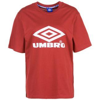 UMBRO Boyfriend Fit Logo T-Shirt Damen rot / weiß