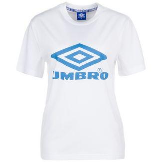 UMBRO Boyfriend Fit Logo T-Shirt Damen weiß / blau