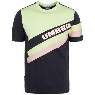 UMBRO Sector Crew T-Shirt Herren schwarz / hellgrün