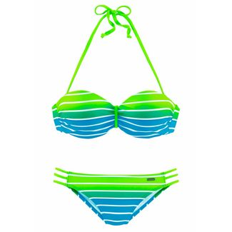 VENICE BEACH Bikini Set Damen türkis-gestreift