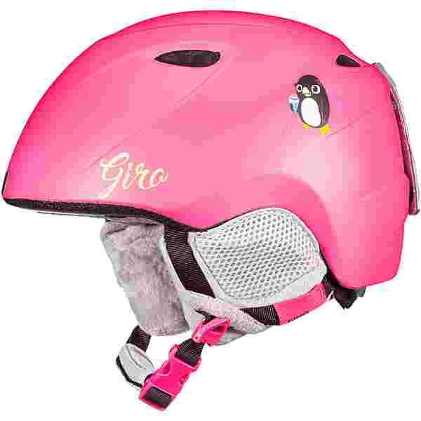 Giro Slingshot Skihelm Kinder matte bright pink penguin