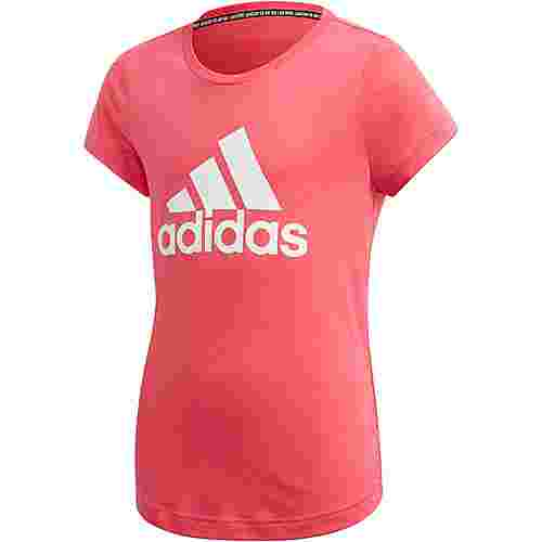 adidas YG MH BOS TEE Funktionsshirt Kinder real pink-white