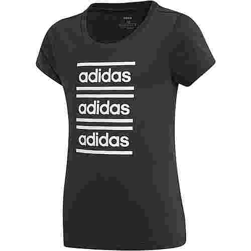 adidas YG CF Tee T-Shirt Kinder black-white