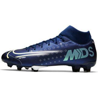 Nike MERCURIAL SUPERFLY 7 ACADEMY MDS FG/MG Fußballschuhe blue void-metallic silver-white-black