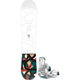 Salomon Set Lotus + Spell All-Mountain Board Damen spell white