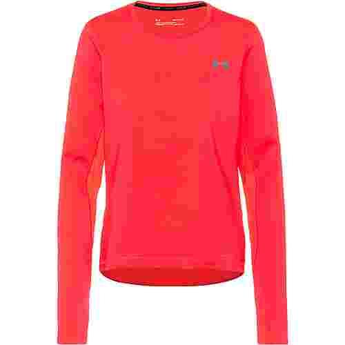 Under Armour Qualifier Coldgear Laufshirt Damen red