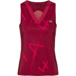 Lacoste Tennisshirt Damen bordeaux-clafoutiblanc