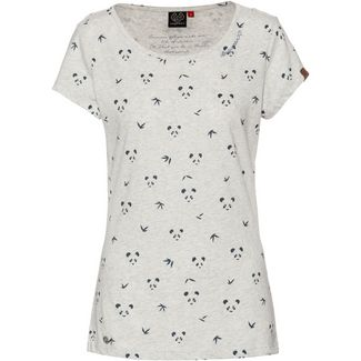 Ragwear Mint Panda T-Shirt Damen white