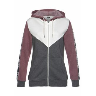 Buffalo Sweatjacke Damen bordeaux-meliert-ecru-anthrazit