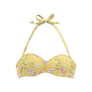 sunseeker Bikini Oberteil Damen gelb-bedruckt