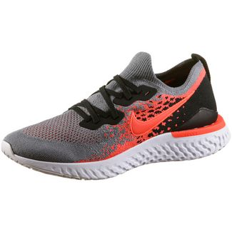 Nike Epic React Flyknit 2 Laufschuhe Herren cool grey-bright crimson