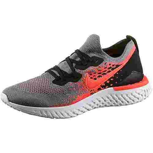 Nike Epic React Flyknit 2 Laufschuhe Herren cool grey-bright crimson