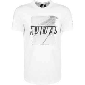 adidas Must Haves 3 Stripes Foil T-Shirt Herren weiß