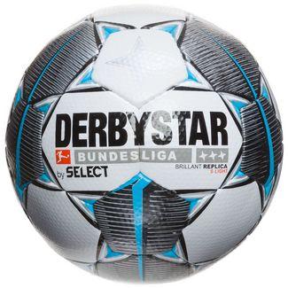 Derbystar Bundesliga Brillant Replica S-Light Fußball weiß / petrol