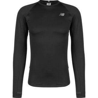 NEW BALANCE Heatgrid Crew Laufshirt Damen schwarz / grau