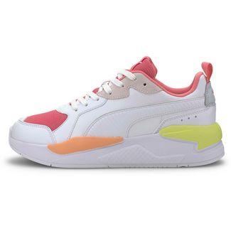 PUMA X-Ray Game Sneaker Damen puma white-bubblegum-plein air-cantaloupe-sunny lime