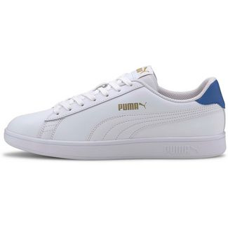 PUMA Smash V2 Sneaker Herren puma white-palace blue-puma team gold