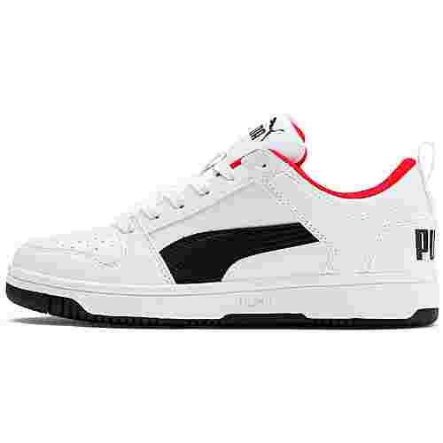 PUMA Rebound Layup Lo SL Jr Sneaker Kinder puma white-puma black-high risk red