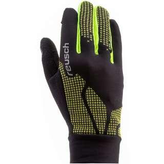 Reusch Ian Junior Fingerhandschuhe Kinder black-neon-yellow