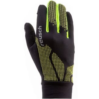 Reusch Ian Junior Fingerhandschuhe Kinder black-neon-yellow