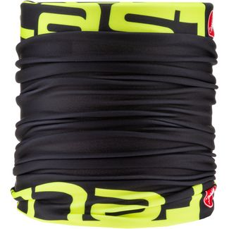 castelli VIVA THERMO 2 Bandana black-yellow fluo
