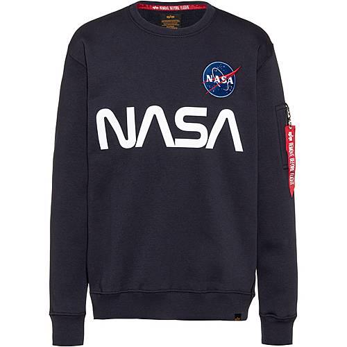 ALPHA INDUSTRIES Sweatshirt mit NASA Patch in Weiß online
