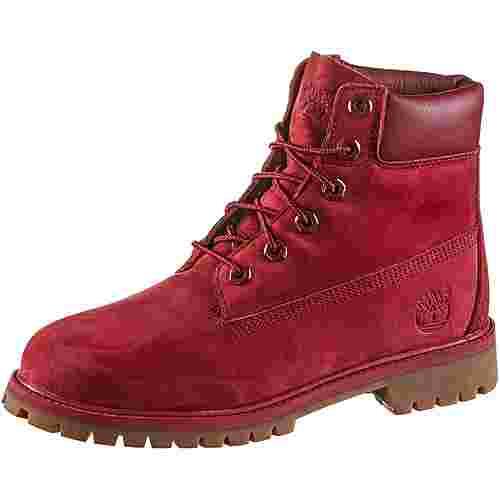 TIMBERLAND 6 Inch Junior Boots Damen medium red nubuck