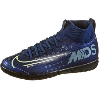 Nike JR MERCURIAL SUPERFLY 7 ACADEMY MDS IC Fußballschuhe Kinder blue void-metallic silver-white-black