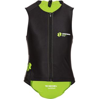 KOMPERDELL Junior Super ECO Vest Protektorenweste Kinder schwarz-lime