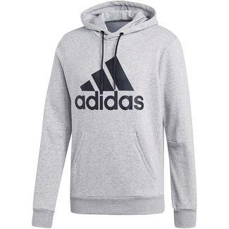adidas MH BOS Hoodie Herren medium grey heather