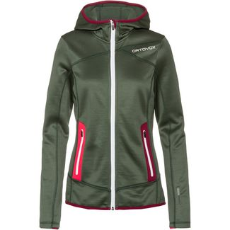 ORTOVOX Merino Fleecejacke Damen green forest