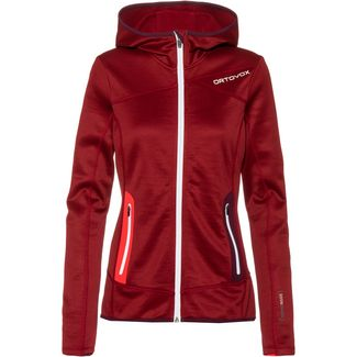ORTOVOX Merino Fleecejacke Damen dark blood