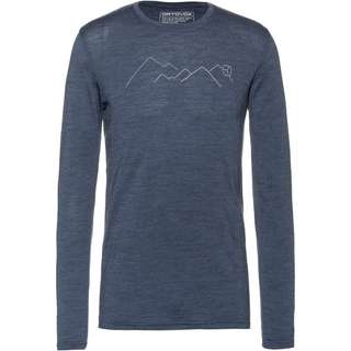 ORTOVOX Merino 185  Mountain Funktionsshirt Herren night blue blend