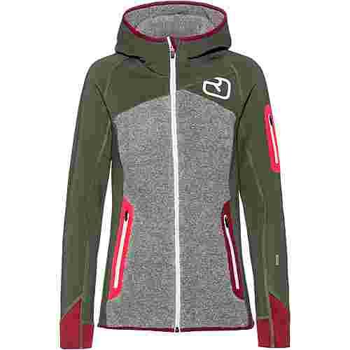 ORTOVOX Plus Fleecejacke Damen green forest im Online Shop von SportScheck kaufen