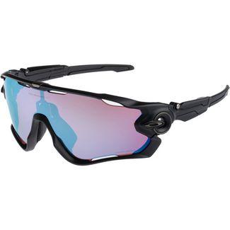 Oakley Jawbreaker Sportbrille matte black with prizm snow sapphire