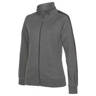 Bench Sweatjacke Damen anthrazit-meliert-schwarz