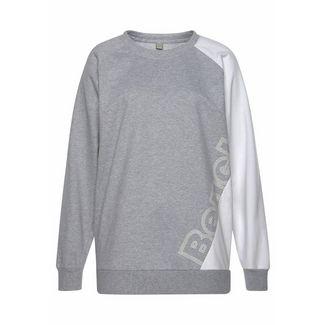 Bench Sweatshirt Damen grau-meliert-weiß