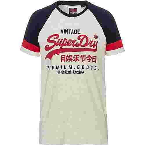 Superdry T-Shirt Herren steel oatmeal marl