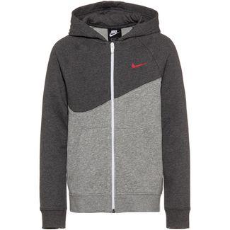 Nike NSW Sweatjacke Kinder dk-grey-heather-university-red