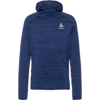Odlo Hoody Midlayer Millennium Element Laufhoodie Herren estate blue melange