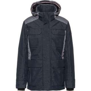CMP Man Long Jacket Zip Hood Parka Herren nero  mel