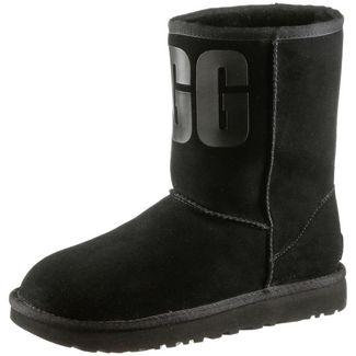 Ugg Classic Short Rubber Stiefel Damen black