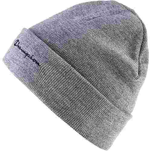CHAMPION Beanie light grey melange yarn dyed