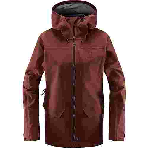 Haglöfs Grym Evo Jacket Hardshelljacke Damen Maroon Red