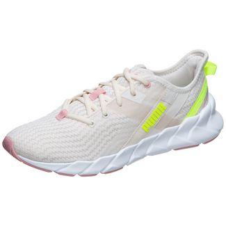 PUMA Weave XT Shift Sneaker Damen beige / neongrün