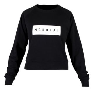 MOROTAI Large Bloc Logo Sweatshirt Longsweat Damen Schwarz