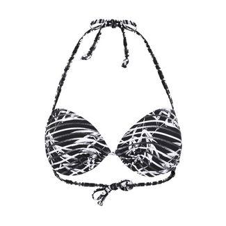 VENICE BEACH Bikini Oberteil Damen schwarz-weiß