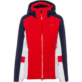 KJUS Sky Skijacke Damen fieryred-atlanta blue