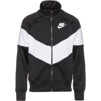Nike NSW Heritage Sweatjacke Kinder black-white-wolf-grey-white