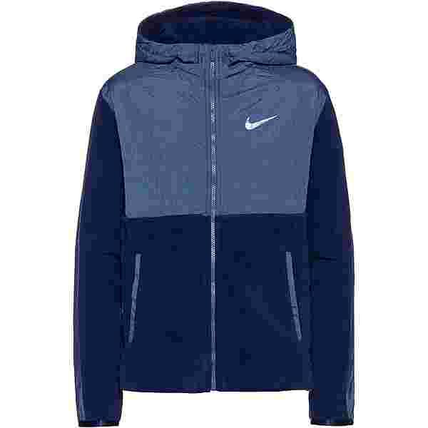 Nike Therma Trainingsjacke Kinder blue-void-mystic-navy